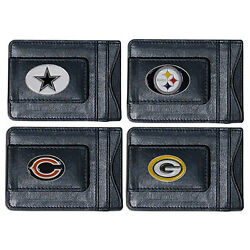 Nfl Football Leather Money Clip Wallet  Pick Your Team