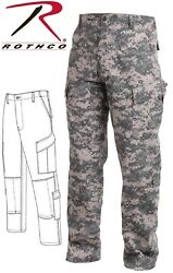 Acu Digital Camouflage Army Military Combat Tactical Ripstop Bdu Pants 5755