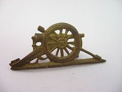 Antique Vintage Cannon Brass Military Theme Pin No Back Pin