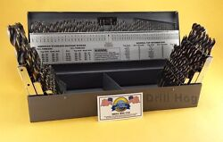 Drill Hogandreg 115 Pc Drill Bit Set Letter Number Hi-molybdenum M7 Lifetime Warranty