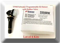 4 Kits of Programmable TPMS EZ-Sensor Suitable For 315MHz Tire Pressure Monitor