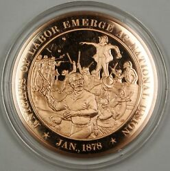 Bronze Proof Medal Knights Of Labor Emerge As National Union Jan 1878