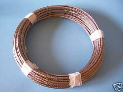 304 Stainless Steel Wire Rope Cable 3/32 7x7150 Ft Length Made In Korea