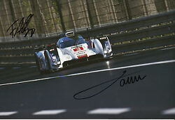 Oliver Jarvis And Filipe Albuquerque Hand Signed Audi Sport Photo 12x8 Le Mans 5