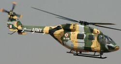 Dhruv Hal Polaris India Light Helicopter Wood Model Replica Large Free Shipping