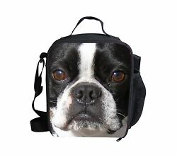 Animal Boston Terrier Thermal Insulated Lunch Bag Cooler Box Picnic Shoulder Bag