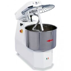 Spiral Dough Mixer 33 Liters - 25kgs - 2 Speed - Made In Italy - Patented Spiral