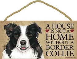 Border Collie House is Not a Home Sign Bonus Coaster