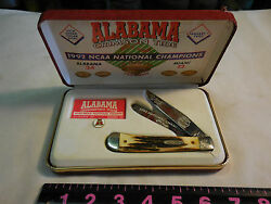 7 Dot Case Xx Alabama 1992 National Champions Stag Trapper 268 Of 500