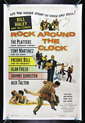 Rock Around The Clock Cinemasterpieces 1955 Vintage Movie Poster Rock And Roll