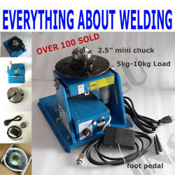 110v 10kg Rotary Welding Positioner Turntable Table Mini 2.5 3 Jaw Lathe Chuck