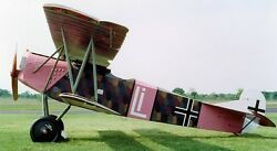 D-vii Fokker Germany Ww1 Fighter Airplane Wood Model Replica Large Free Shipping