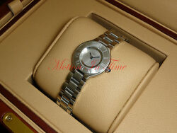 Must 21 Stainless Steel 28mm Silver Dial Quartz Movement W10109t2