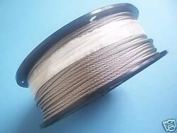 304 Stainless Steel Wire Rope Cable 1/8 7x7 500 Ft Reel Made In Korea