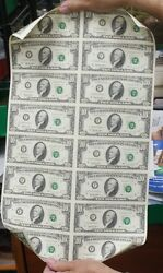 1995 16 Subject Uncut 10 Frn Sheet F-star Fw Federal Reserve Notes