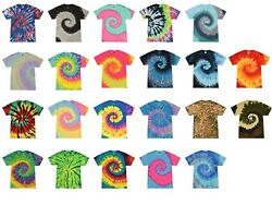 Multi Color Tie Dye T Shirts Adult S M L XL 2XL 3XL 4XL 5XL 100% Cotton