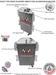 3 Row Radiator For 34-36 Chevy Pickup