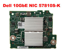DELL NETWORK CARD 57810S-K 10GBE DAUGHTER CARD FOR DELL PE M620  M820 JVFVR
