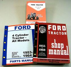 Lot Ford 601 801 Series Tractor Owner Operator Parts Service Repair Shop Manuals