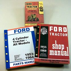 Lot Ford 620 630 820 Tractor Owner Operator Parts Service Repair Shop Manuals
