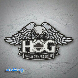 Small Eagle Silver Patch Harley Davidson Owners Group H.O.G.