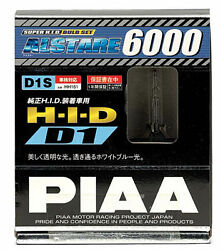 2x Piaa 19985 D1s Alstare 6000k Xenon Hid Lights Bulb Pair Replacement Twin Pack