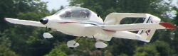 Ion 100 Usa Two Seat Ultralight Airplane Wood Model Replica Large Free Shipping