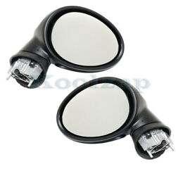 07-15 Mini Cooper Rear View Door Mirror Power Heated Manual Folding Pair Set