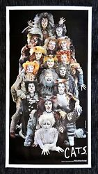 Cats Cinemasterpieces Original Broadway Show Theater New York Play Poster 1987