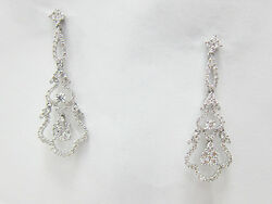 1.52ct F Si 18kt White Gold Round Cut Diamond Earrings