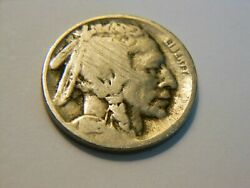 1913-d Ag/g Type 2 Buffalo Nickel, Nice Key Date Coin For Any Collector