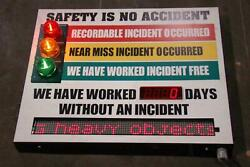 Recordable Incident Signal Scoreboard Electric Sign 120v Hg 378995