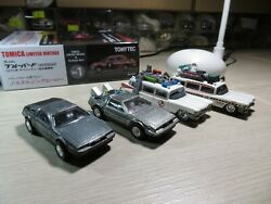 Hot Wheels Delorean Dmc-12 + Back To The Future Real Riders + Ghost Busters Ecto