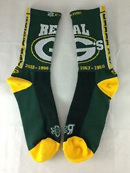 Green Bay Packers Real G's Socks Unisex, Xs, Green