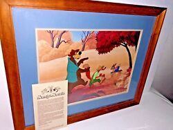 disney cel song of the south brer fox rabbit brer bear the laughing place cell