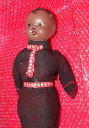 Antique Black Smith Roanoak Alabama Doll Head With Replaced Cloth Body