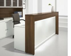 Morpheo 85 Modern Reception/receptionist Office Desk Shell With Countertop