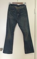 Vintage Reproduction 300+ Orange Tab Big E 545 Jeans 30 X 32 Made In Usa