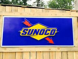 Sunoco Sign 8 Ft Long X 42in Tall X 2in Thick - Official Fuel Of Nascar