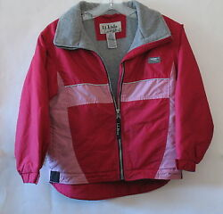 LL Kids by LL bean Pink Girls Jacket Fully Lined SM 8 OMS06 Shell 100% Nylon $25.00