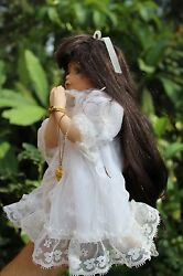 """Collectible Fine Bisque Porcelain Prying Angel Doll """"collectors Choice"""""""