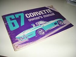1967 Original 1st Edition Corvette Owners Manual With Full Corvette News Card