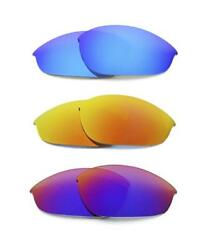 NEW POLARIZED REPLACEMENT FIREBLUERED LENS FOR OAKLEY HALF JACKET SUNG