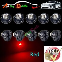 10 x Red T4/T4.2 Wedge LED Bulb Cluster Instrument  Base Light Lamp Radio Switch