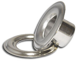 Micron 3xl7/16 L/n 12mm Nickel Self-piercing Grommets And Washers,500 Pc/ba.