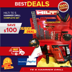 Hilti Te 5 Drill, Excellent Condition, Free Laser And Extras, Fast Ship