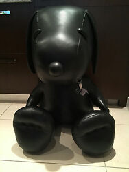 COACH X PEANUTS XL COLLECTIBLE  Black Leather SNOOPY Doll VERY LIMITED EDITION!!