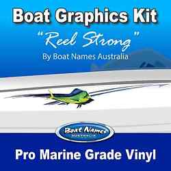 Boat Graphics Kit - Reel Strong