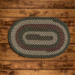 Brook Farm Winter Green Braided Rug By Colonial Mills. Many Sizes Braided Rug