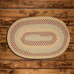 Brook Farm Tea Stained Braided Area Rug And Runner By Colonial Mills. Many Sizes